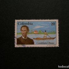 Sellos: /24.10/-COLOMBIA-1984-20 P. Y&T 883 SERIE COMPLETA EN USADO/º/-BARCA. Lote 222157183