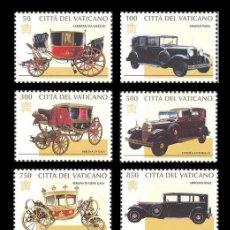 Sellos: VATICANO 1997 1059/68 CARROZAS Y AUTOMÓVILES PONTIFICIOS 10V.. Lote 222580725