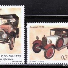 Sellos: ANDORRA ESPAÑOLA 2003 309/0 AUTOMÓVIL.CARTER CAR PEUGO 2V.. Lote 222581177