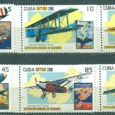 Sellos: 5401-2 CUBA 2010 MNH WORLD EXPO 2010 - SHANGHAI, CHINA. Lote 226310423