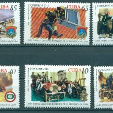 Sellos: 6149 CUBA 2016 MNH THE 320TH ANNIVERSARY OF CUBA FIRE DEPARTMENT. Lote 226310671