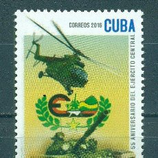Sellos: 6075 CUBA 2016 MNH THE 55TH ANNIVERSARY OF THE CENTRAL ARMY. Lote 226310690