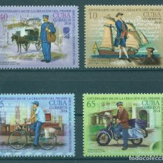 Sellos: 6064 CUBA 2016 MNH THE 260TH ANNIVERSARY OF POSTAL DELIVERY IN CUBA. Lote 226310710