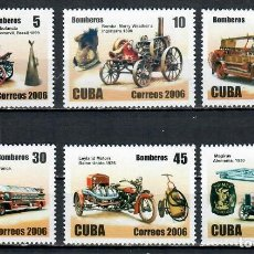 Sellos: 4887 CUBA 2006 MNH FIRE FIGHTING AND RESCUE EQUIPMENT. Lote 226311520
