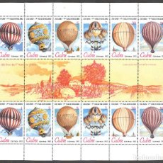 Sellos: ML2729-2 CUBA 1983 MNH THE 200TH ANNIVERSARY OF MANNED FLIGHT - BALLOONS. Lote 226311906