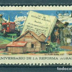 Sellos: 1467 CUBA 1969 NG THE 10TH ANNIVERSARY OF THE AGRARIAN REFORM. Lote 226312306