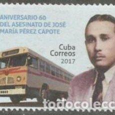 Sellos: 6310 CUBA 2017 MNH THE 60TH ANNIVERSARY OF THE DEATH OF JOS? MAR?A P?REZ CAPOTE, 1911-1957. Lote 226313686