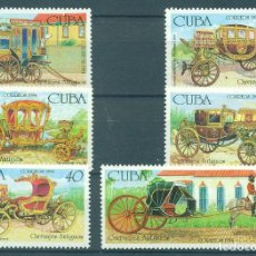 Sellos: 3759 CUBA 1994 MNH CARRIAGES. Lote 228164650