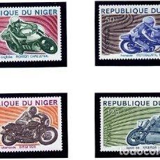 Sellos: REPUBLIQUE DU NIGER - TEMATICA MOTOS MOTOCICLETAS - SERIE COMPLETA NUEVA. Lote 231125935