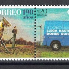 Sellos: UY3575 URUGUAY 2017 MNH 190 YEARS OF URUGUAYAN MAIL. Lote 236772295