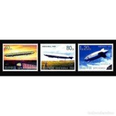 Sellos: 🚩 KOREA 2002 CENTENARY OF ZEPPELIN FLIGHT MNH - AIRSHIPS. Lote 243287775