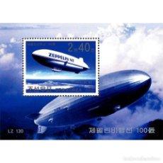 Sellos: 🚩 KOREA 2002 CENTENARY OF ZEPPELIN FLIGHT MNH - AIRSHIPS. Lote 243287785