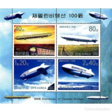 Sellos: 🚩 KOREA 2002 CENTENARY OF ZEPPELIN FLIGHT MNH - AIRSHIPS. Lote 243287795