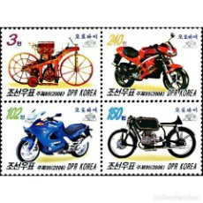 Sellos: 🚩 KOREA 2006 MOPEDS MNH - MOTORCYCLES. Lote 243289180