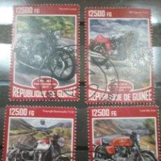 Timbres: SELLOS R. GUINEA MTDOS/2015/MOTOS CLASICAS/MOROCICLETAS/VEHICULO/TRANSPORTE. Lote 252808420