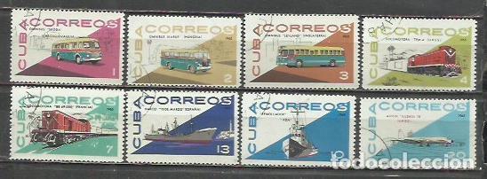 9308A-SERIE COMPLETA CUBA TRANSPORTES 1965 Nº 942/9 , VEHICULOS. (Sellos - Temáticas - Otros Transportes)