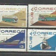 Sellos: 9308A-SERIE COMPLETA CUBA TRANSPORTES 1965 Nº 942/9 , VEHICULOS.. Lote 254995680