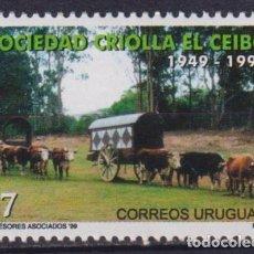 Sellos: ⚡ DISCOUNT URUGUAY 1999 THE 50TH ANNIVERSARY OF EL CEIBO MNH - HORSES, CARTS. Lote 255632610