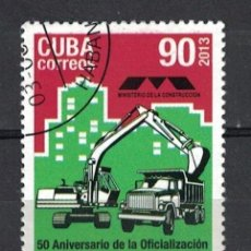 Sellos: ⚡ DISCOUNT CUBA 2013 THE 50TH ANNIVERSARY OF THE CONSTRUCTION DEPARTMENT U - EQUIPMENT, TRUC. Lote 255637340