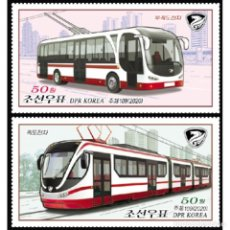 Sellos: ⚡ DISCOUNT KOREA 2020 VEHICLES MNH - TRANSPORT, TRAMS. Lote 260554185