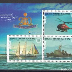 Sellos: ⚡ DISCOUNT URUGUAY 2017 200 YEARS NATIONAL NAVY MNH - SHIPS, HELICOPTERS, SAILBOATS, LIGHTHO. Lote 260586760