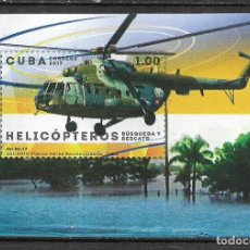 Sellos: ⚡ DISCOUNT CUBA 2017 HELICOPTERS MNH - HELICOPTERS. Lote 261277650