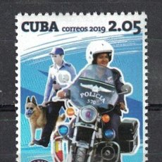 Sellos: ⚡ DISCOUNT CUBA 2019 60TH ANNIVERSARY OF THE NATIONAL REVOLUTIONARY POLICE MNH - MOTORCYCLES. Lote 261277695