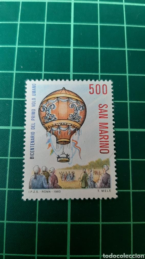 1983 SAN MARINO SERIE COMPLETA NUEVA YVERT 1080 GLOBO TRASPARENTES FILATELIA COLISEVM (Sellos - Temáticas - Otros Transportes)