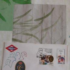 Sellos: 1994 ESPAÑA EDIFIL 3322/3 SFC 876 MATASELLO GUARDIA CIVIL /METRO TRASPORTES PÚBLICOS. Lote 263064125