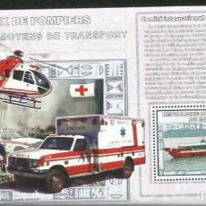 Sellos: CONGO 2006 HOJA BLOQUE SELLOS TRANSPORTES HELICOPTERO- BARCOS RESCATE- FAROS NAVEGACION- CRUZ ROJA. Lote 265384439