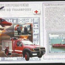 Sellos: CONGO 2006 HOJA BLOQUE SELLOS TRANSPORTES HELICOPTERO- BARCOS RESCATE- FAROS NAVEGACION- CRUZ ROJA. Lote 265384509