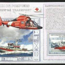 Sellos: CONGO 2006 HOJA BLOQUE SELLOS TRANSPORTES HELICOPTERO- BARCOS RESCATE- FAROS NAVEGACION- CRUZ ROJA. Lote 265384579