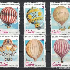Sellos: ⚡ DISCOUNT CUBA 1983 THE 200TH ANNIVERSARY OF MANNED FLIGHT - BALLOONS MNH - BALLOONS. Lote 266297058