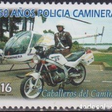 Sellos: ⚡ DISCOUNT URUGUAY 2004 THE 50TH ANNIVERSARY OF THE TRAFFIC POLICE MNH - MOTORCYCLES, POLICE. Lote 266303208