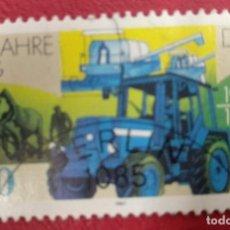 Sellos: ALEMANIA DDR 1987. COOPERATIVAS DE PRODUCCIÓN AGRÍCOLA (GLP) DE 35 AÑOS. MAQUINARIA, AERONAVES. Lote 286737263
