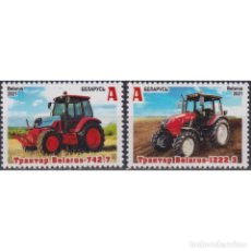 Sellos: BY1421-2 BELARUS 2021 MNH MACHINE BUILDING. Lote 287534058