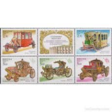 Sellos: RU762 RUSSIA 2002 MNH OLD CARRIAGES. Lote 287537633