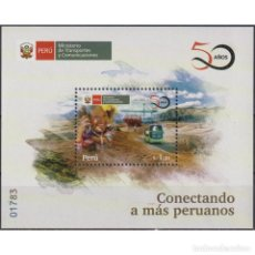 Sellos: PE2866 PERU 2020 MNH THE 50TH ANNIVERSARY (2019) OF THE MINISTRY OF TRANSPORT & COMMUNICATIONS. Lote 287538033