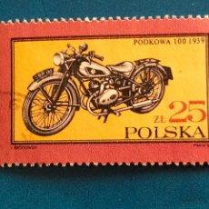 Sellos: USADO. YVERT 2906. POLSKA. POLONIA. MEDIOS DE TRANSPORTE. MOTO. Lote 289295778