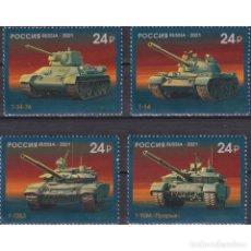 Sellos: RU2806 RUSSIA 2021 MNH HISTORY OF DOMESTIC TANK BUILDING. Lote 293413078