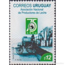 Sellos: UY3010 URUGUAY 2008 MNH THE 75TH ANNIVERSARY OF THE NATIONAL ASSOCIATION OF MILK PRODUCERS. Lote 293408423
