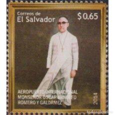 Sellos: SV2710 SALVADOR 2014 MNH OSCAR ARNULFO ROMERO INTERNATIONAL AIRPORT. Lote 293410548