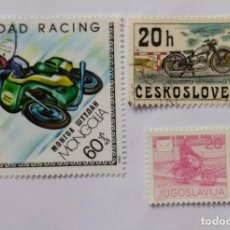 Sellos: LOTE SELLOS TEMATICA MOTO - MOTOS - MOTOCICLETA. Lote 295473398