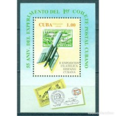 Sellos: ⚡ DISCOUNT CUBA 1994 THE 2ND SPANISH-CUBAN STAMP EXHIBITION NG - STAMPS ON STAMPS, ROCKETS,. Lote 296047973