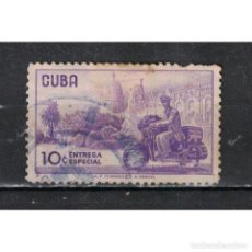 Sellos: ⚡ DISCOUNT CUBA 1960 COURIER WITH MOTORCYCLE U - MOTORCYCLES, POST SERVICES. Lote 296050103