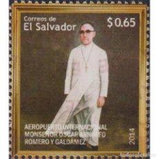 Sellos: ⚡ DISCOUNT SALVADOR 2014 OSCAR ARNULFO ROMERO INTERNATIONAL AIRPORT MNH - AIRPORTS, PRIESTS. Lote 296063303