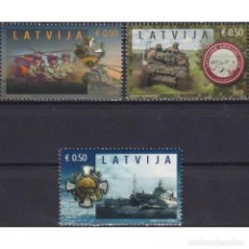 Sellos: ⚡ DISCOUNT LATVIA 2019 THE 100TH ANNIVERSARY OF THE LATVIAN ARMY MNH - SHIPS, ARMY, TANKS, C. Lote 296064988