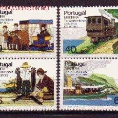 Sellos: MADEIRA 105/08*** - AÑO 1985 - TRANSPORTES TÍPICOS - TRENES - BARCOS. Lote 23213802