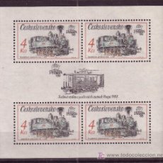 Sellos: CHECOSLOVAQUIA HB 75*** - AÑO 1987 - LOCOMOTORAS ANTIGUAS - TRENES. Lote 23656759