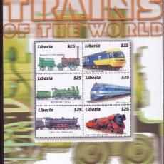 Sellos: LIBERIA 3195/200** - AÑO 2001 - TRENES - LOCOMOTORAS. Lote 23135410